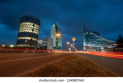 Sofia, Bulgaria – 29 NOVEMBER 2018: Capital Fort Business Center ,Modern architecture from the city of Sofia. Sofia is the capital of Bulgaria.