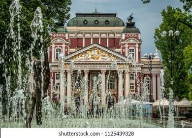 Sofia, Bulgaria - 6.18.2018 : Ivan Vazov National Theatre