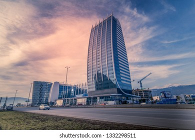 Sofia, Bulgaria – 7 MARCH 2019: Capital Fort Business Centre ,Modern architecture from the city of Sofia. Sofia is the capital of Bulgaria.