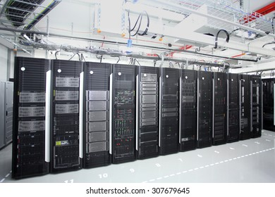 Sofia, Bulgaria - April 29, 2015: Representatives of the media and citizens are invited to see the latest generation of servers installed in one of the largest business centers of the capital Sofia.