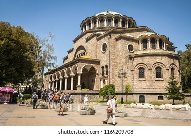 "SOFIA, BULGARIA. August 5, 2018. St. Nedelya Church (""Sveta Nedelya"" in Bulgarian), Eastern Orthodox Cathedral in central Sofia, a Medieval church of the Sofia bishopric of the Bulgarian Patriarchate."