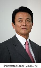 SOFIA, BULGARIA - JANUARY 11: Japanese Prime Minister Taro Aso visiting Sofia, Bulgaria on January 11, 2007.