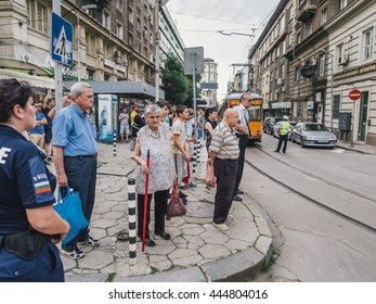 Sofia, Bulgaria - June 18, 2016: Spectators of the ninth Sofia Gay Pride