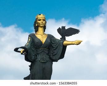 Sofia, Bulgaria - June 25, 2019: Statue of Saint Sophia, symbol of wisdom and protector of Sofia (Bulgaria)