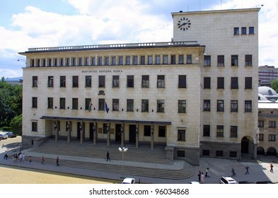 SOFIA, BULGARIA - JUNE 30: A general exterior view of the National Bank of Bulgaria Building in Sofia, Bulgaria, on Tuesday, June. 30, 2009.