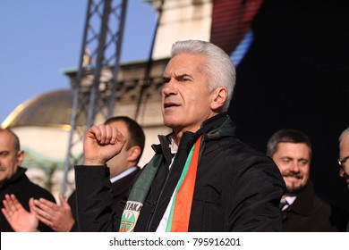 Sofia, Bulgaria, March 03, 2013: Volen Siderov - leader of the nationalist party Attack (Ataka) of Bulgaria