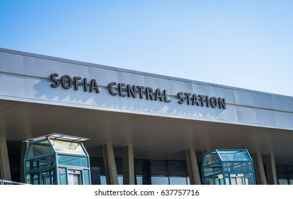 SOFIA, BULGARIA - May 04, 2017: Central railway station Sofia, Bulgaria