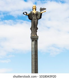 SOFIA, BULGARIA - OCTOBER 09, 2017: Monument of Saint Sofia, built in 2000.