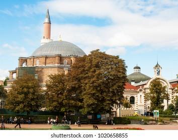 SOFIA, BULGARIA - OCTOBER 09, 2017 Djamilia mosque