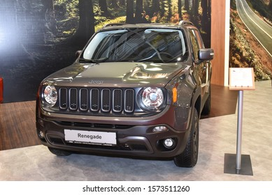 Sofia, Bulgaria, October 13-2017: Jeep Renegade presented at Sofia Motor Show
