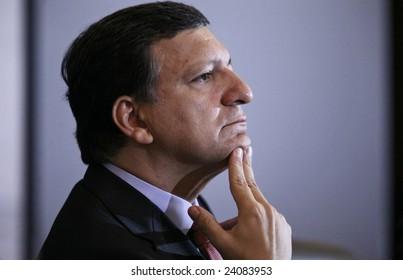 SOFIA, BULGARIA - SEPTEMBER 29:  President of the European Commission  Jose Manuel Barroso visiting Sofia, Bulgaria on September 29, 2006.