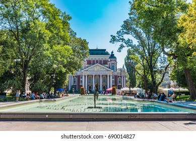 SOFIA, BULGARIA - SEPTEMBER 4, 2016: City Garden in the city center of Sofia, Bulgaria. Sofia is the capital and largest city of Bulgaria.