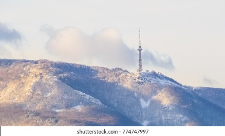 Sofia, Bulgaria TV tower in Vitosha Mountain (hoof)