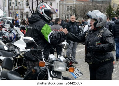 Sofia, MARCH 28: Participants in the motorcycle procession on March 6, 2015 in Sofia, Bulgaria