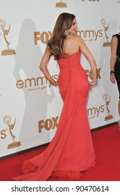 Sofia Vergara arriving at the 2011 Primetime Emmy Awards at the Nokia Theatre, L.A. Live in downtown Los Angeles. September 18, 2011  Los Angeles, CA Picture: Paul Smith / Featureflash
