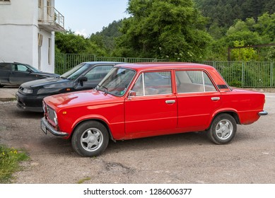 Sofia/Bulgaria- Sep 25, 2018 VAZ (Lada) 21012 Lada 1200-one of the symbols of Soviet and Russian automobile production. Zhiguli made in USSR 1970s car based on Italian FIAT 124.