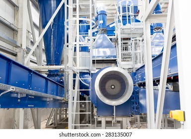 Sofia's second waste plant (organic waste plant, waste to energy plant, composting, incineration, landfill, recycling, windrow composting) from the inside.