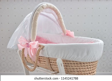 Soft baby basket. Big beautiful basket for a small child.