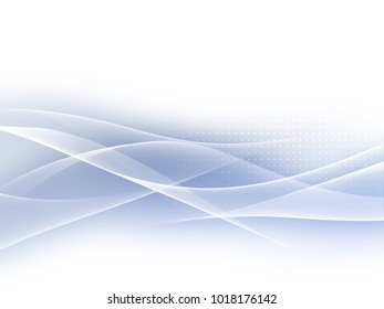 Soft blue abstract business graphic wave background with halftone