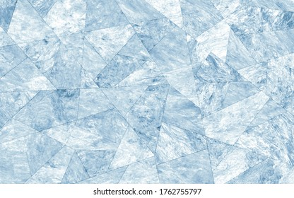 Soft blue mother of pearl texture in faceted pattern