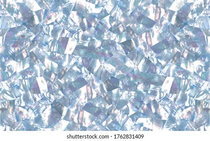 Soft blue mother of pearl texture in facets pattern