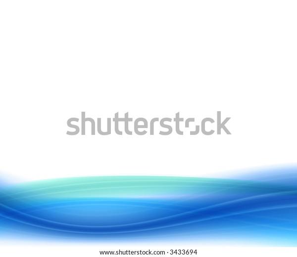 Soft blue waves.