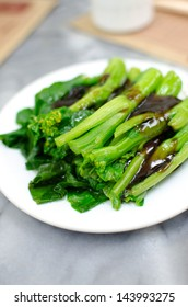 Soft boil vegetables with oyster sauce , Chinese style food