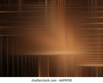 Soft brown woven streaks (computer generated, digital abstract background)