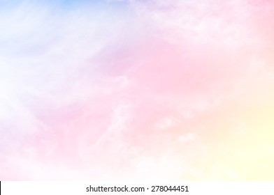 soft cloud background with a pastel multicolored gradient with bokeh