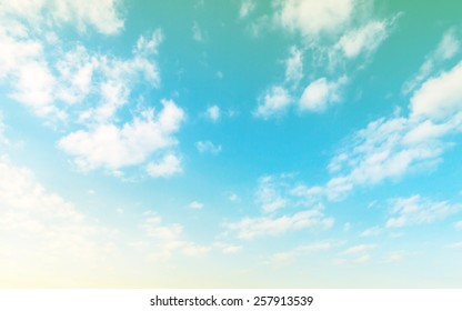A soft cloud background with a pastel retro and vintage tone.
