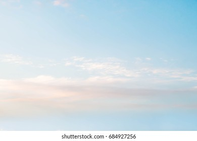 soft cloud with blue sky background