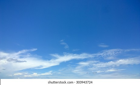The soft cloud is on the blue sky