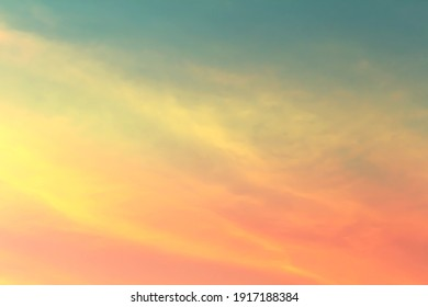 Soft cloud on sky subtle background colorful pastels tone. The light of the sun on the evening.