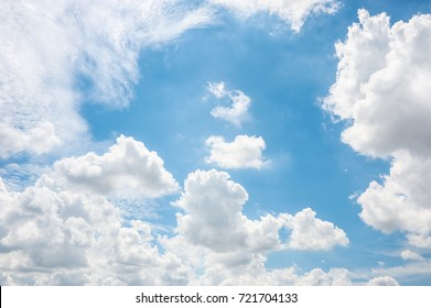 soft clouds and blue sky, abstract white background