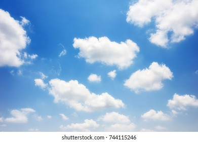 soft clouds and blue sky background