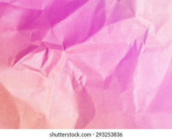 Soft colors pink background from paper envelopes.It was a Maul that creased and wrinkles.