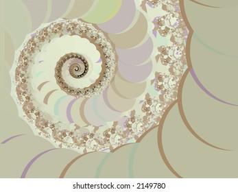 Soft Colors Spiral - High Resolution Illustration.