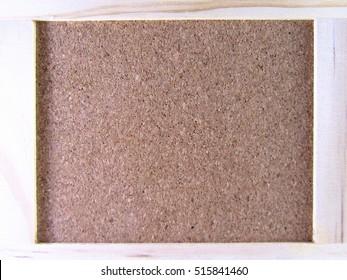 Soft cork board backdrop.