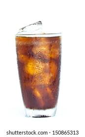 soft drink on white background.