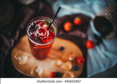 Soft drinks. Homemade lemonade.