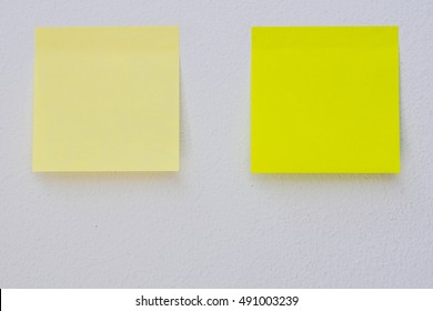 Soft focus Abstract empty sticky note,  on gray background