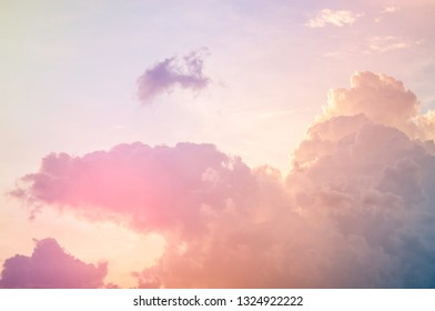 Soft focus, abstract texture pattern colorful sky and clouds naturally, bright colors with gradients of beautiful pastel shades.