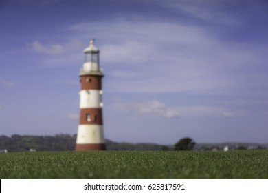 Soft focus, blur of Smeaton's tower, Hoe, Plymouth, Devon, England, UK