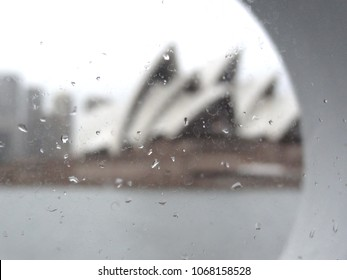 Soft focus blurred impression of Sydney buildings and opera house Australia