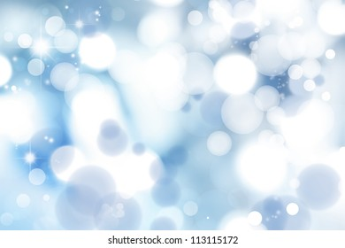 Soft focus circles. Blue abstract background.