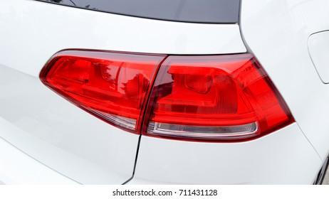Soft focus Closeup of rear car lights