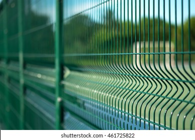 Soft focus , Football field with fence
