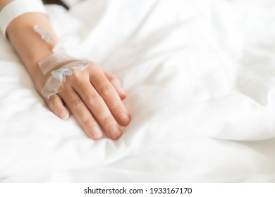 Soft Focus on the hand, Female patients are hospital Concept of medical and health care