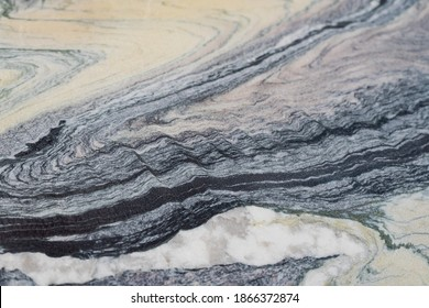 Soft focus of patterns on sandstone striped cross section background texture. Black and white genuine stone , real beach rock pattern on nature.