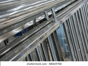 Soft focused picture of Stainless steel  gate fence